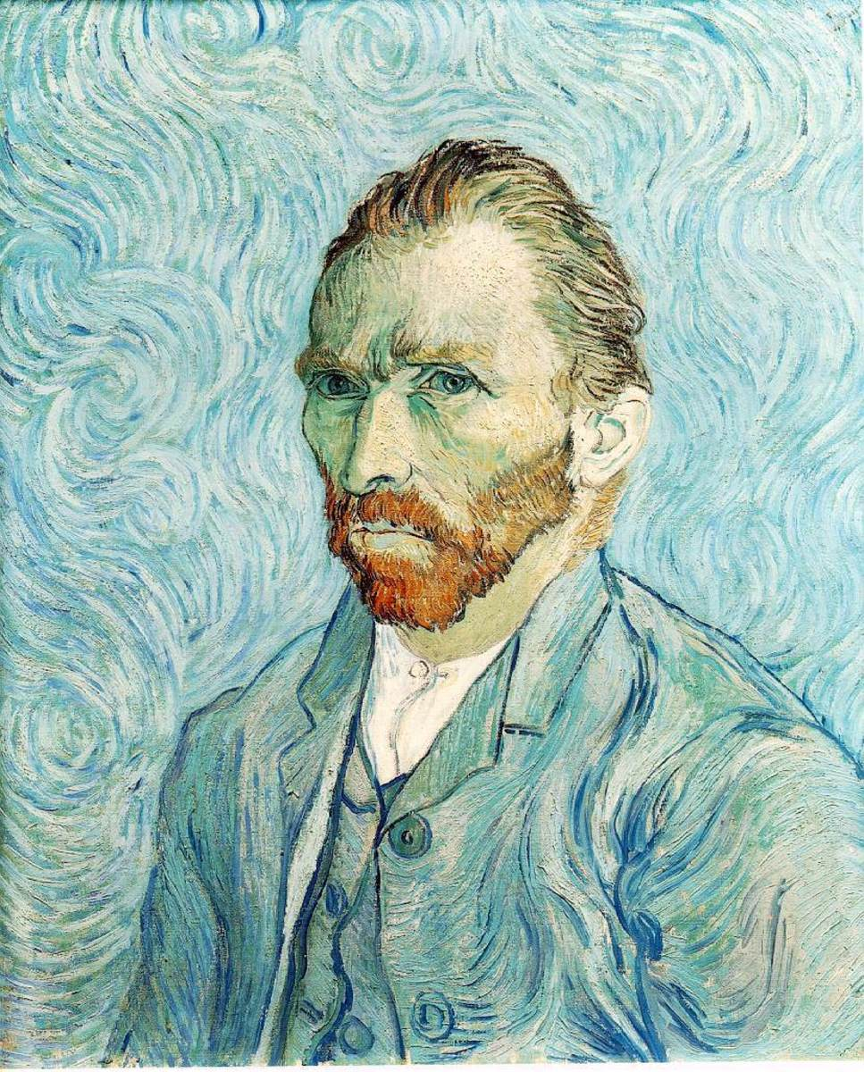 Vincent Van Gogh's self portrait, painted in 1889