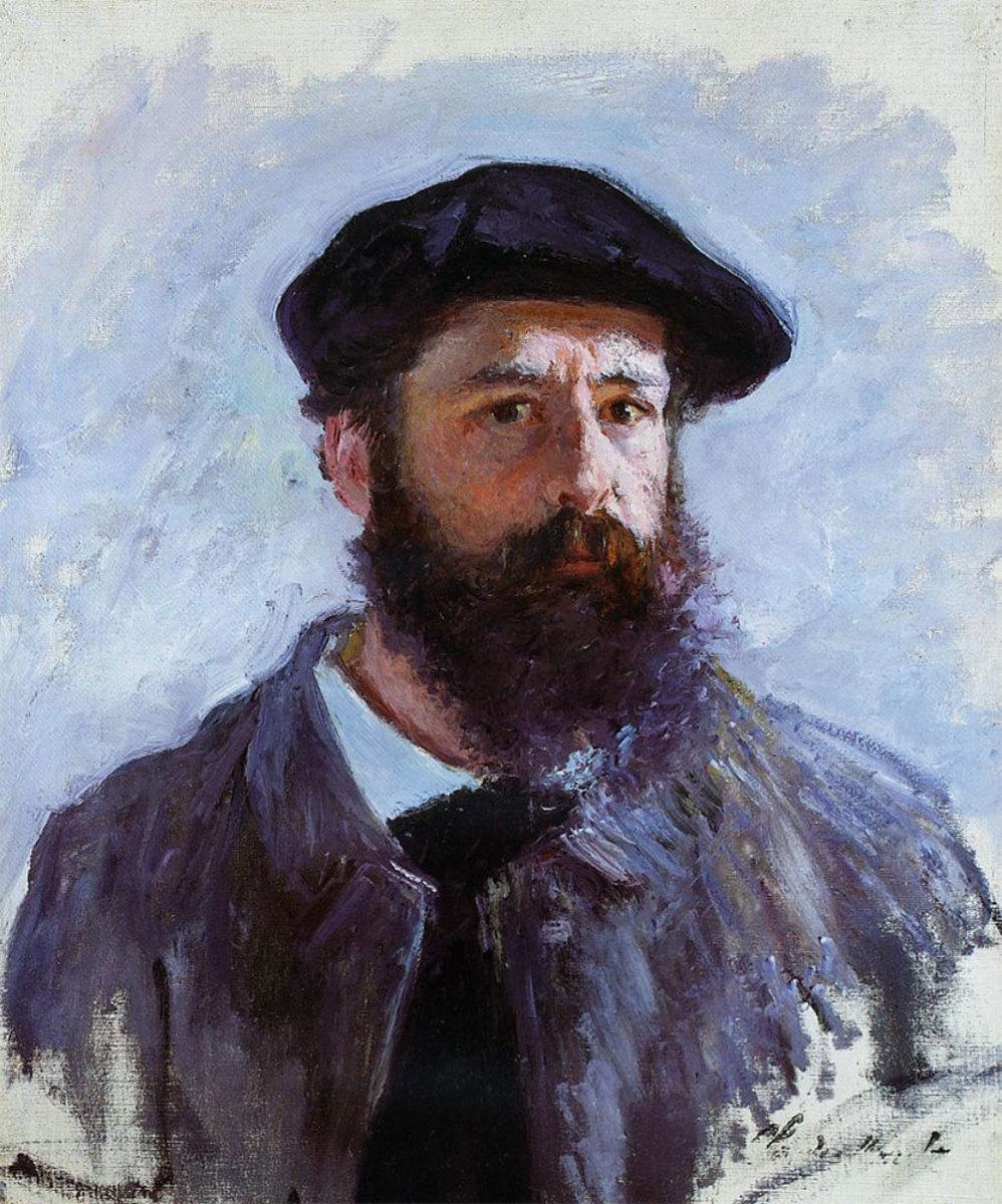 Claude Monet's self portrait, painted in 1886