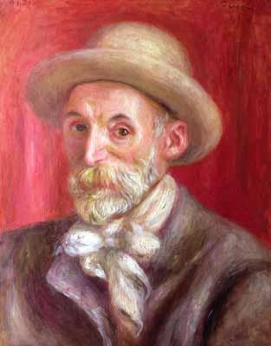 Pierre Auguste Renoir's self portrait, painted in 1910