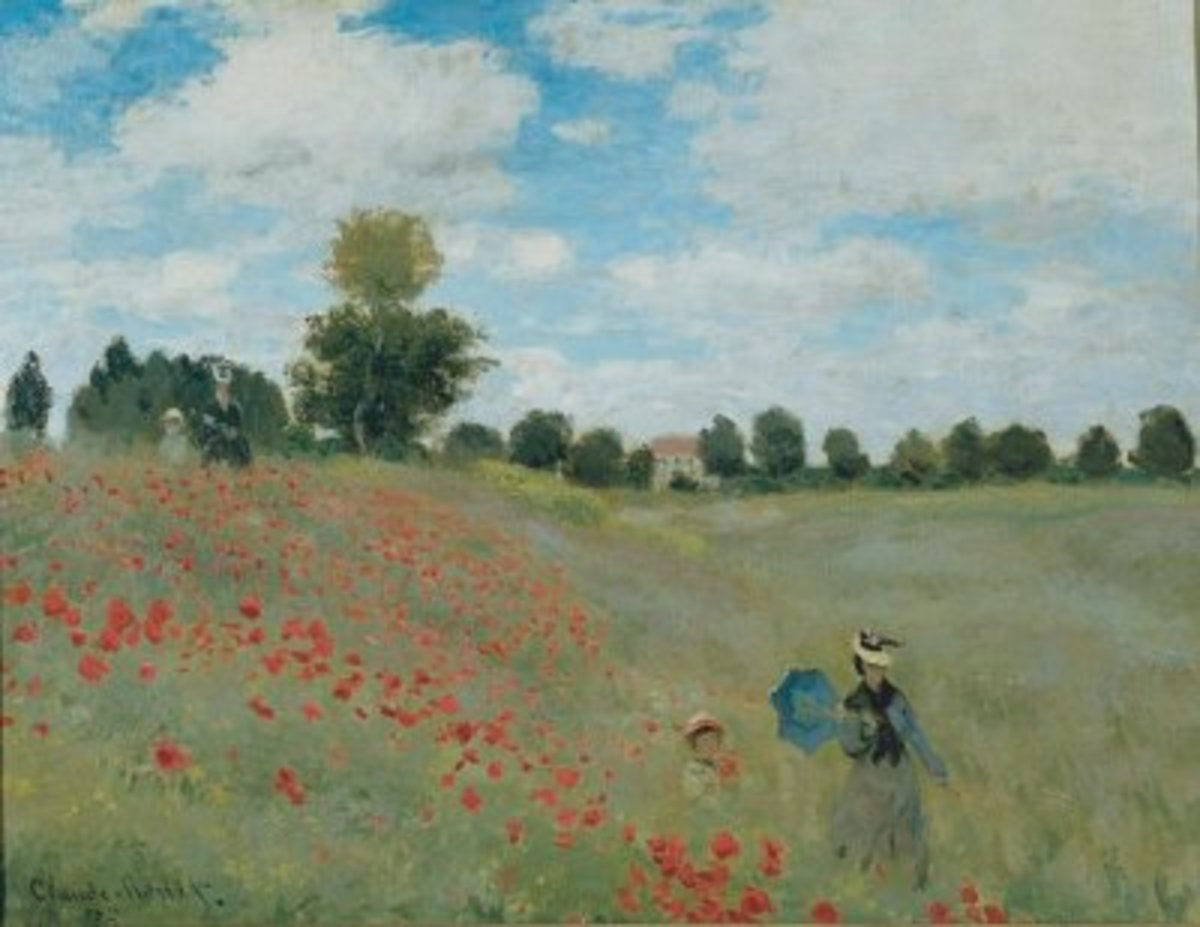 This painting exemplifies all the main features of Impressionist painting. It's outdoors, the colours are bright and the brush strokes are delicate meaning the detail is inexact.