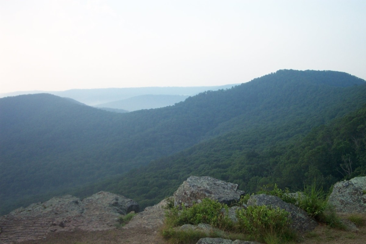 White Rock Mountain in the Boston Mountains region of the Arkansas Ozarks. Charles Smith 2003