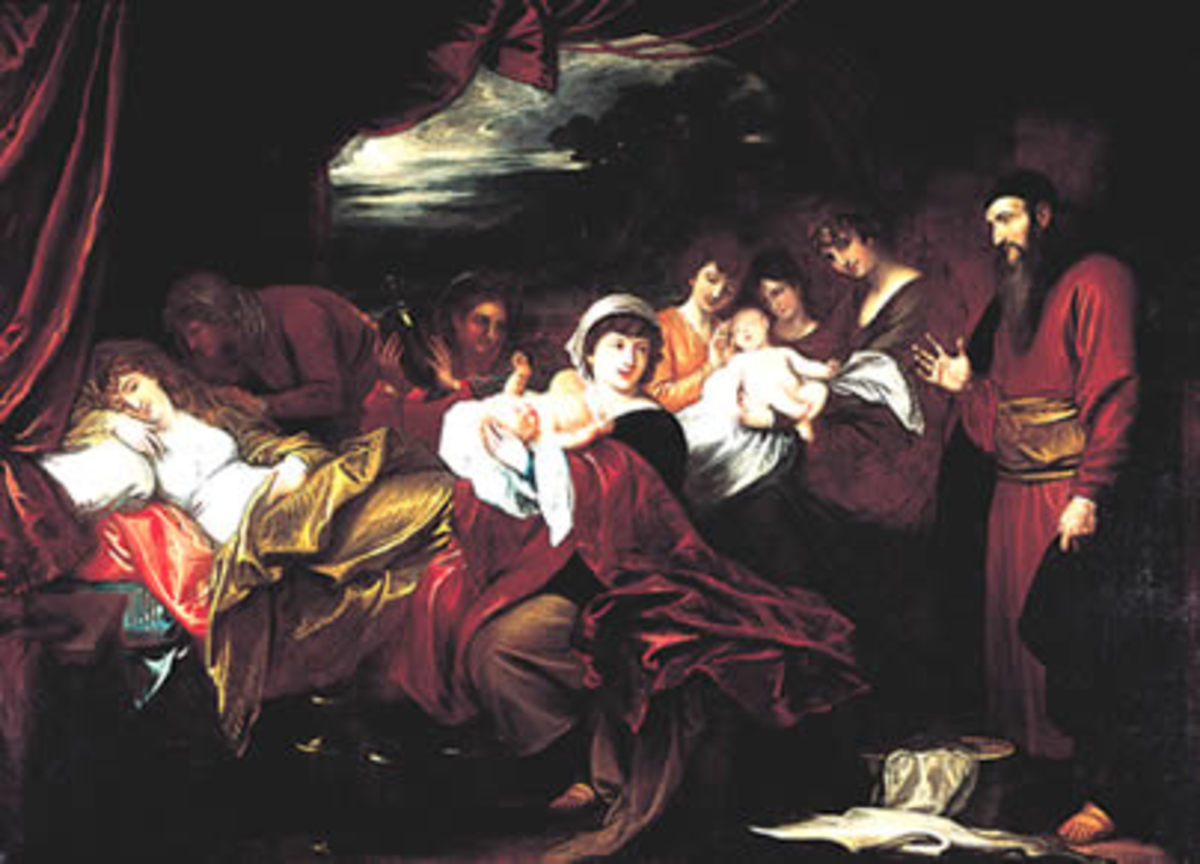 Esau and Jacob presented to Isaac.  Original Work of Art by Benjamin West (1738-1820), Wikimedia Commons