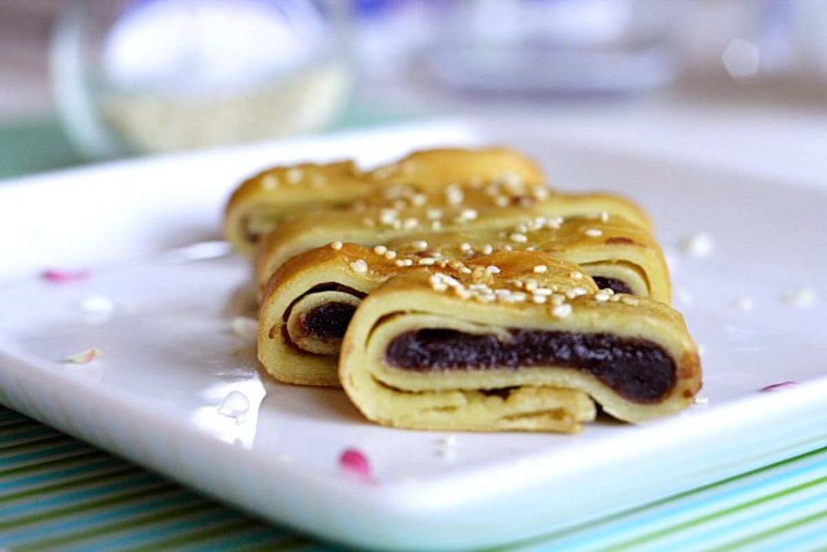 red bean pancake   (courtesy of http://image.healthhaven.com/Red_bean.htm)