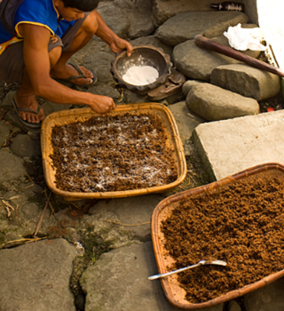 Apply the powdered bubod on cooked rice (Image Credit: AkosiSuperEdwinK from pinoyphotography.org)