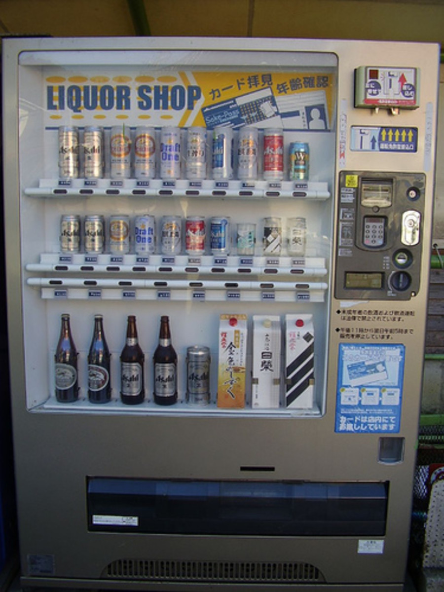 Liquor Vending Machine Selling Japanese Rice Wine (Photo courtesy by Steph & Adam from Flickr.com)