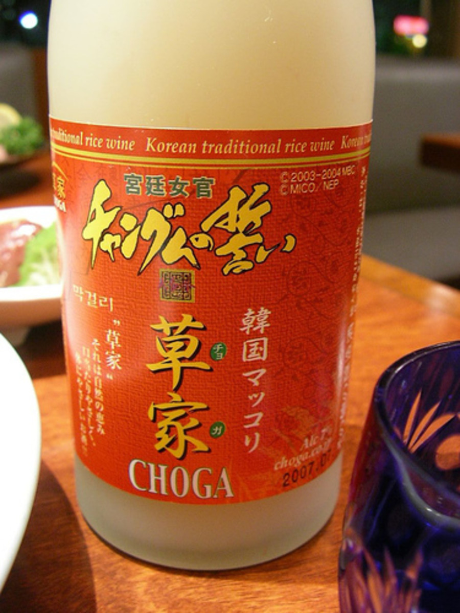 Korean Rice Wine in Bottle (Photo courtesy by jetalone from Flickr.com)