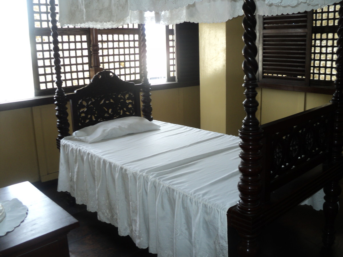 The former bed of Rizal. It is rather sturdy than it looks and still in beautiful condition!