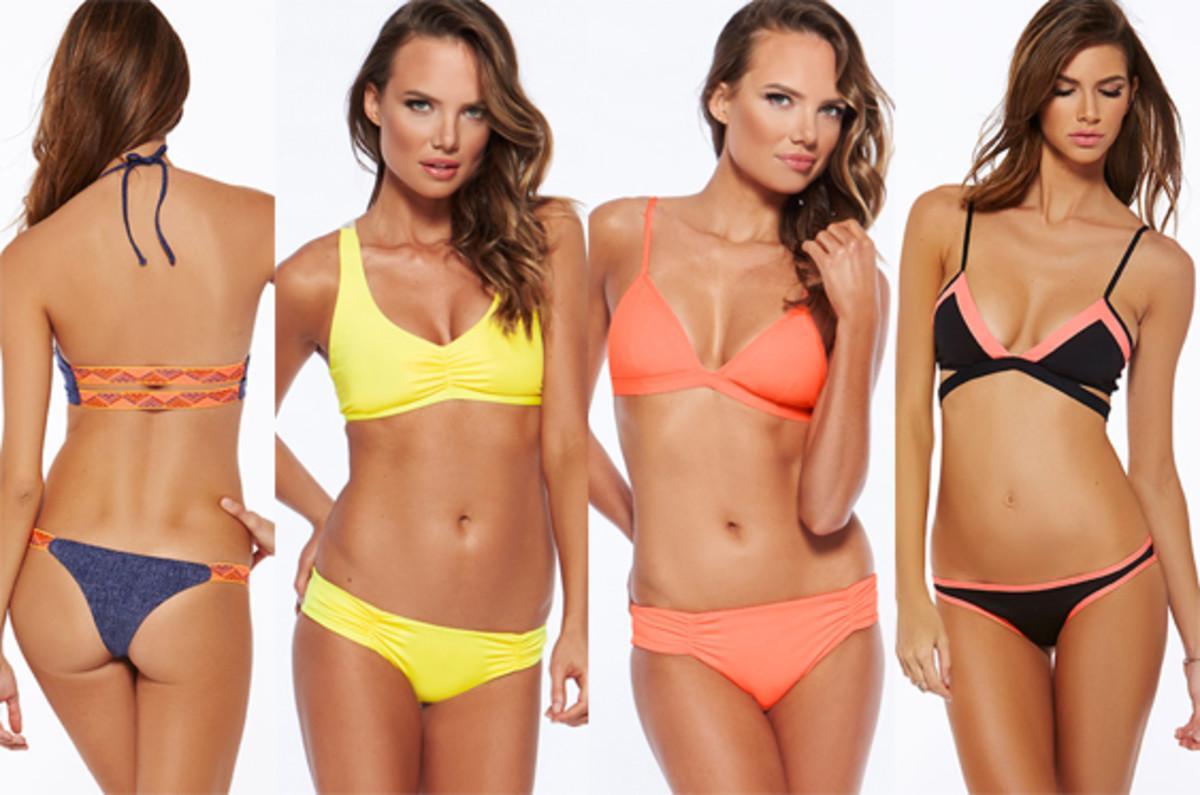 L*Space 2015 Neon Print Bikinis