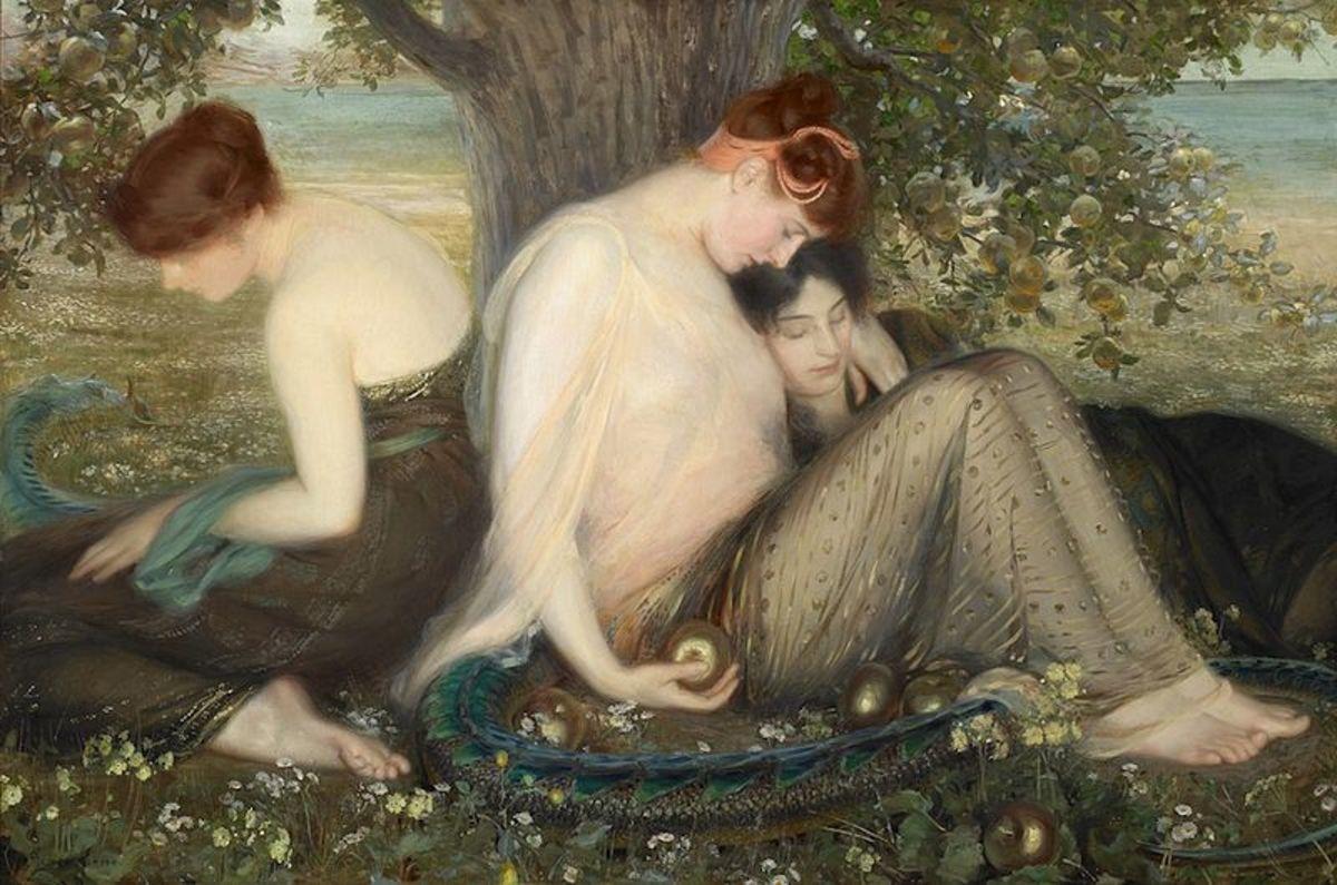 The Apples of the Hesperides - Albert Herter (1871–1950) - PD-art-70