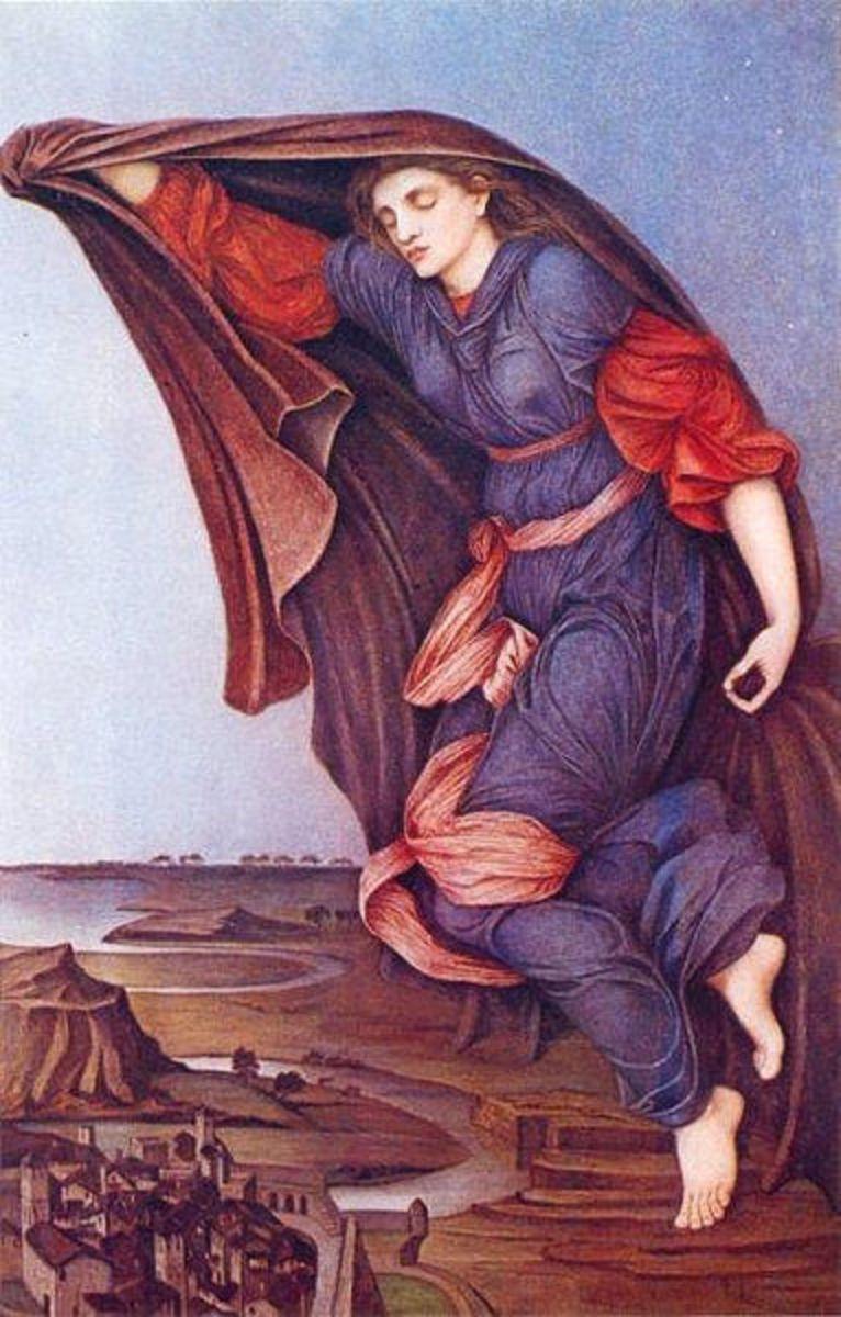 Nyx - John Roddam Spencer Stanhope (1829–1908) - PD-art-100
