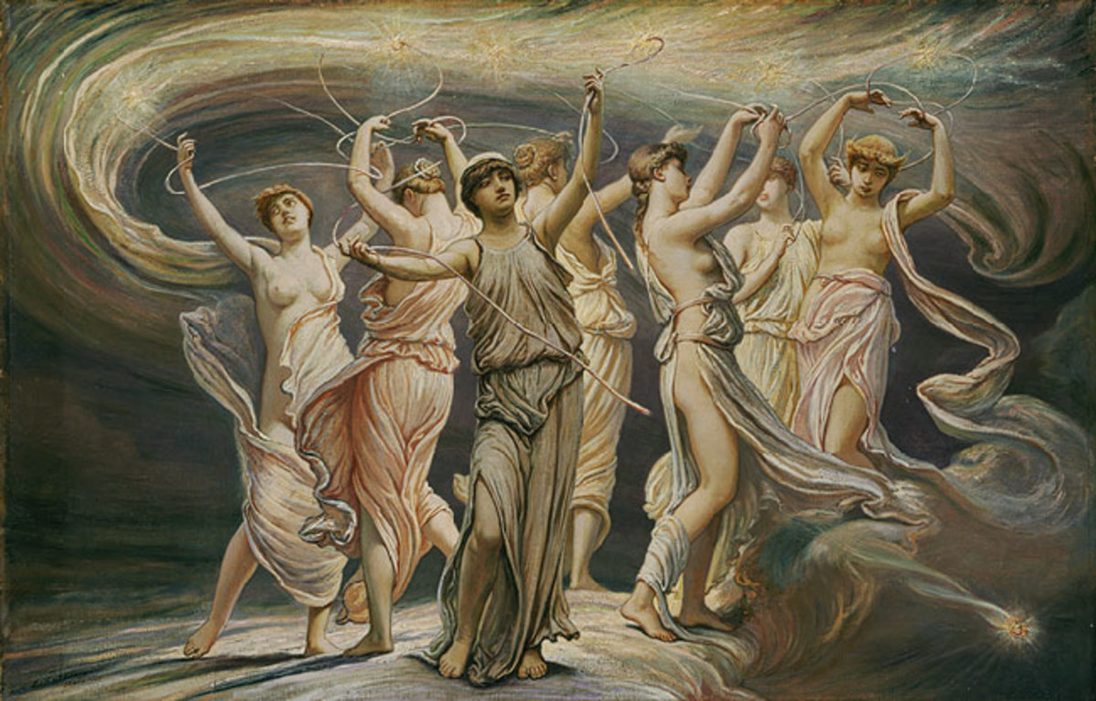 The Pleiades - Elihu Vedder (1836–1923) - PD-art-100