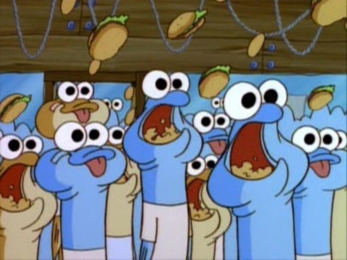 Anchovies. This show's first example of extreme gluttons. Not the last.