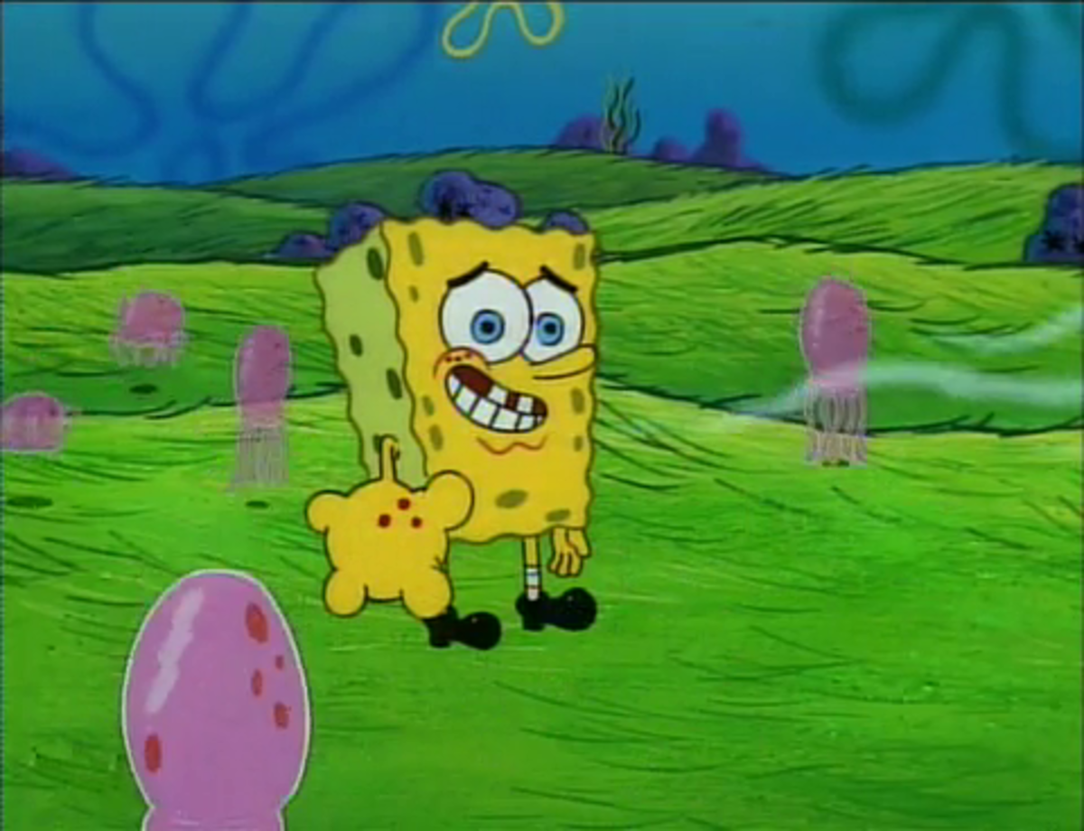 Spongebob naked. Funny what Nickelodeon could get away with.