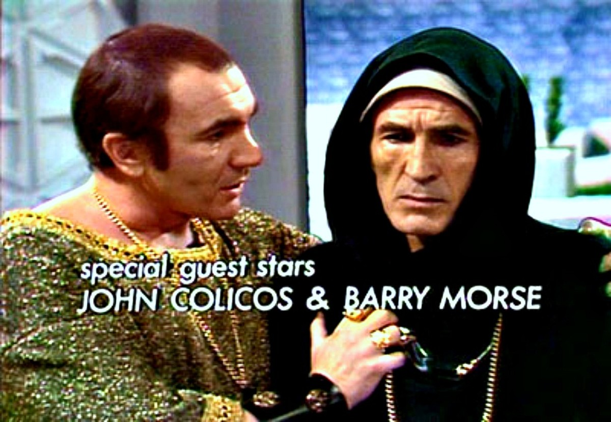 "Two Great stars in the third episode ""The Goddess Calabra""  John Colicos and Barry Morse."
