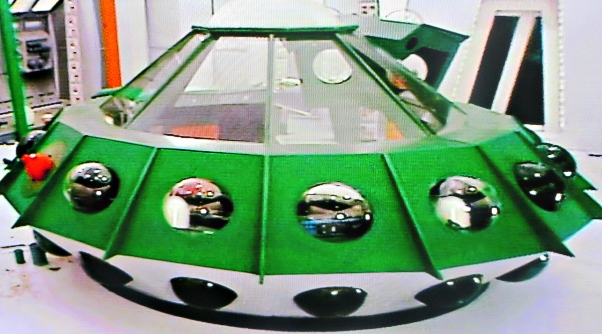 """Oro's Flying Saucer Used in """"The Alien Oro"""" and """"Return of Oro,"""" both of which guest-starred Walter Koenig as Ora."""