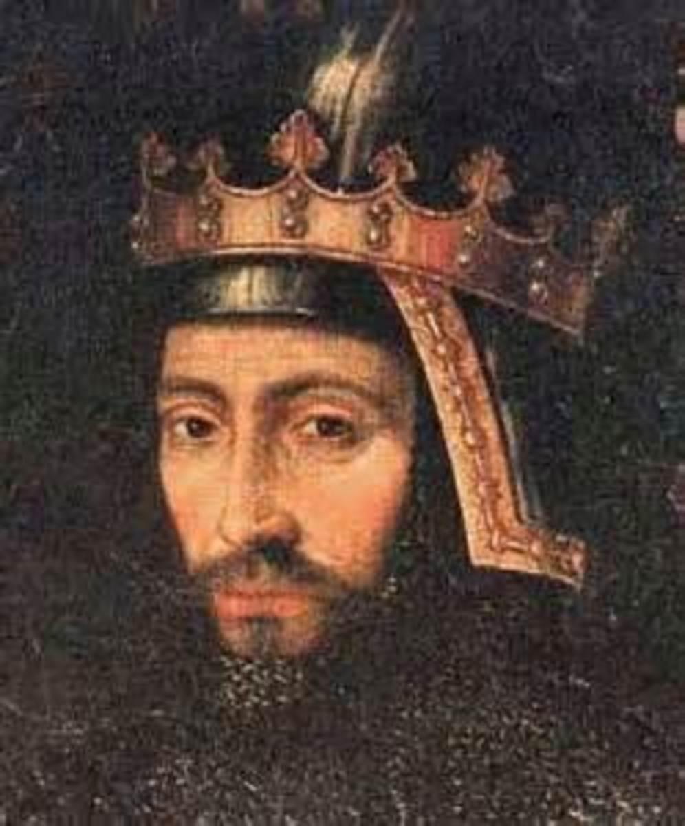 A painting of John of Gaunt, 1st Duke of Lancaster, son of Edward III Plantagenet