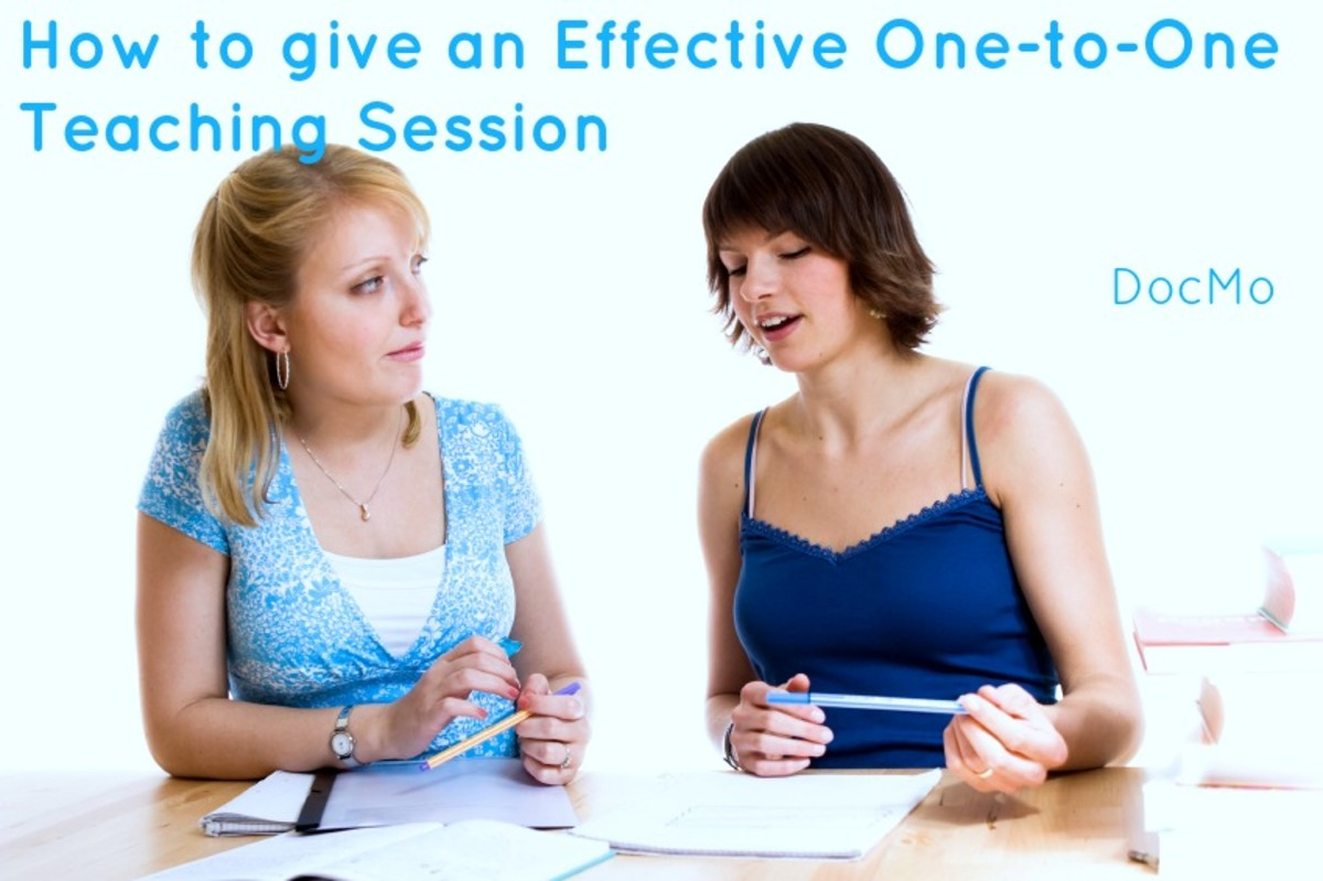 How to Give an Effective One-to-One Teaching Session