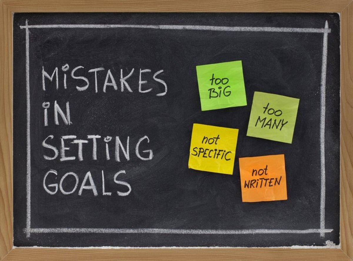 Overambitious goals.