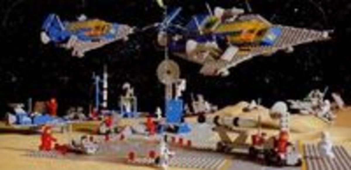 Some of the first sets Lego made based on Outer Space.