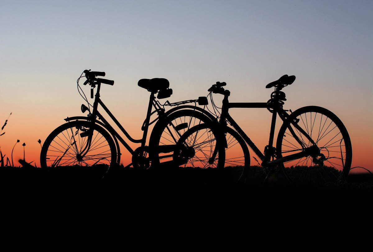 Girl and boy bikes.