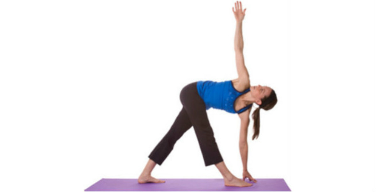 Trikonasana or Triangle Position