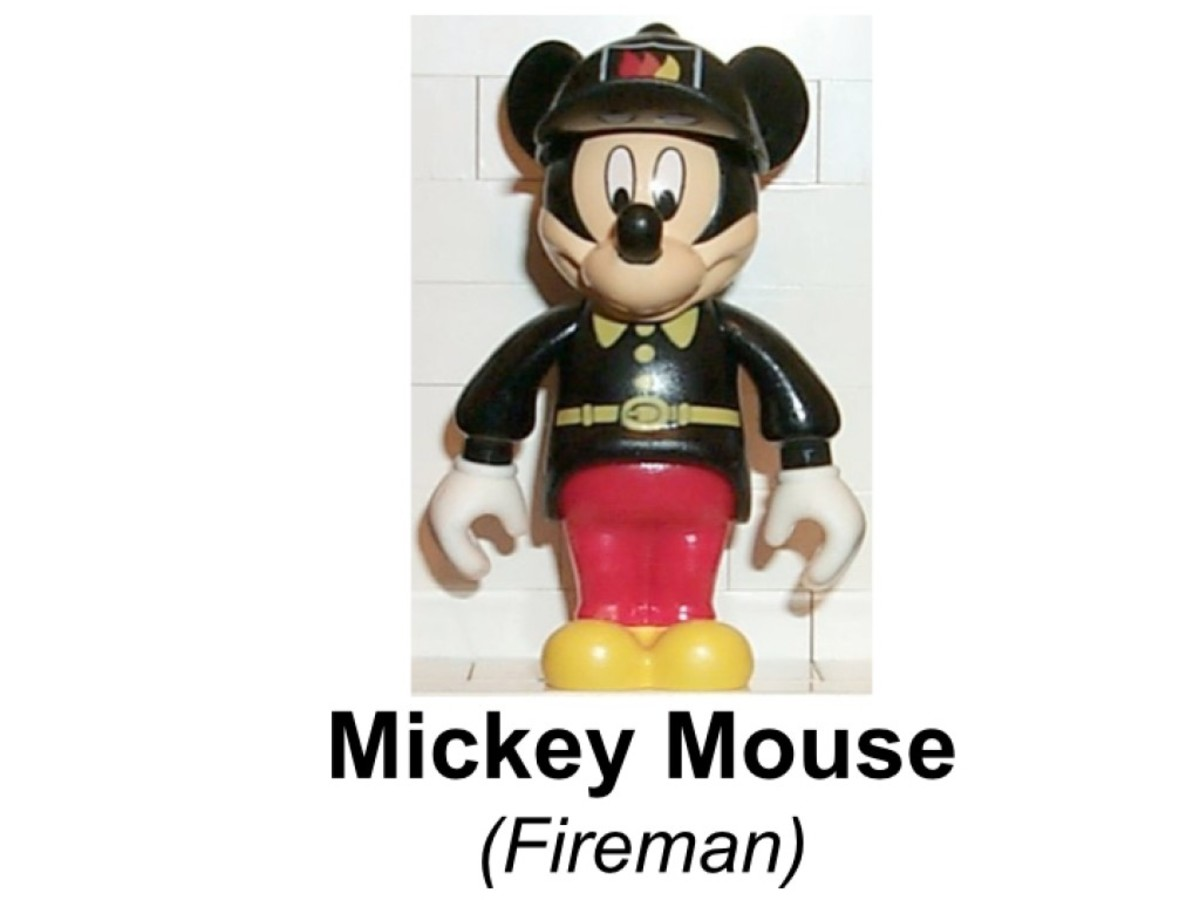 LEGO Mickey Mouse Mickey's Fire Engine 4164 Mickey Mouse Fireman Minifigure