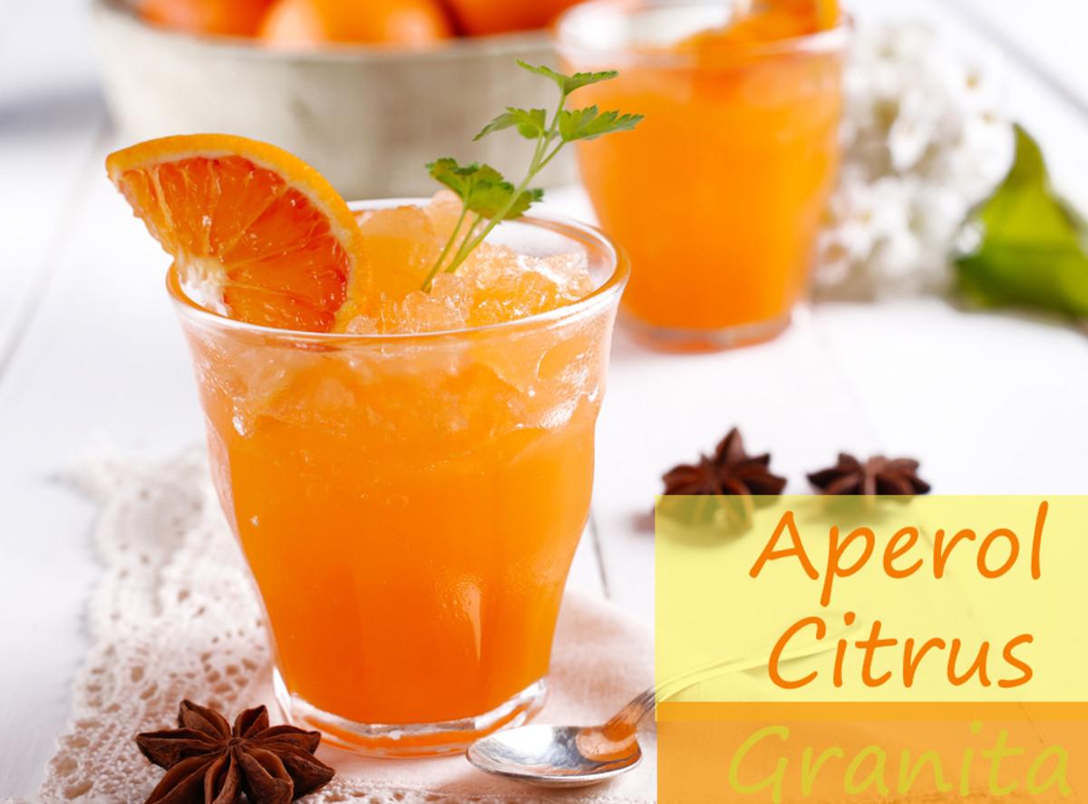 Aperol Citrus Granita