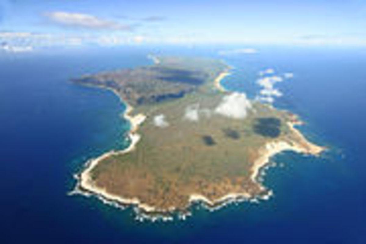 Niihau has a land area of 70 square miles.