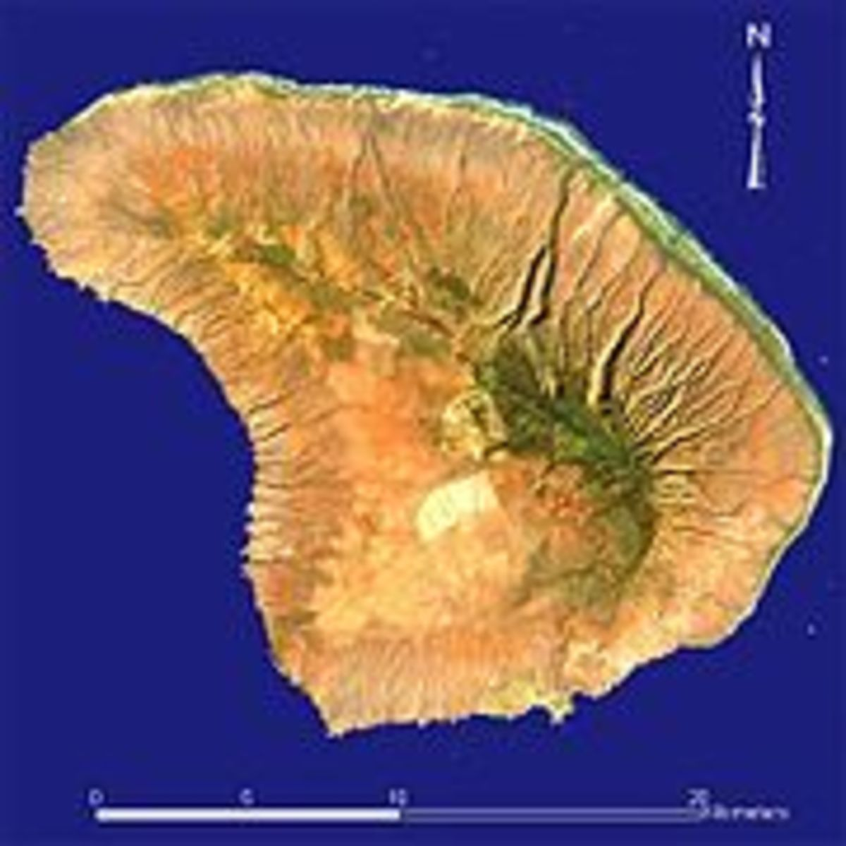 Lanai has a land area of 140.5 square miles.