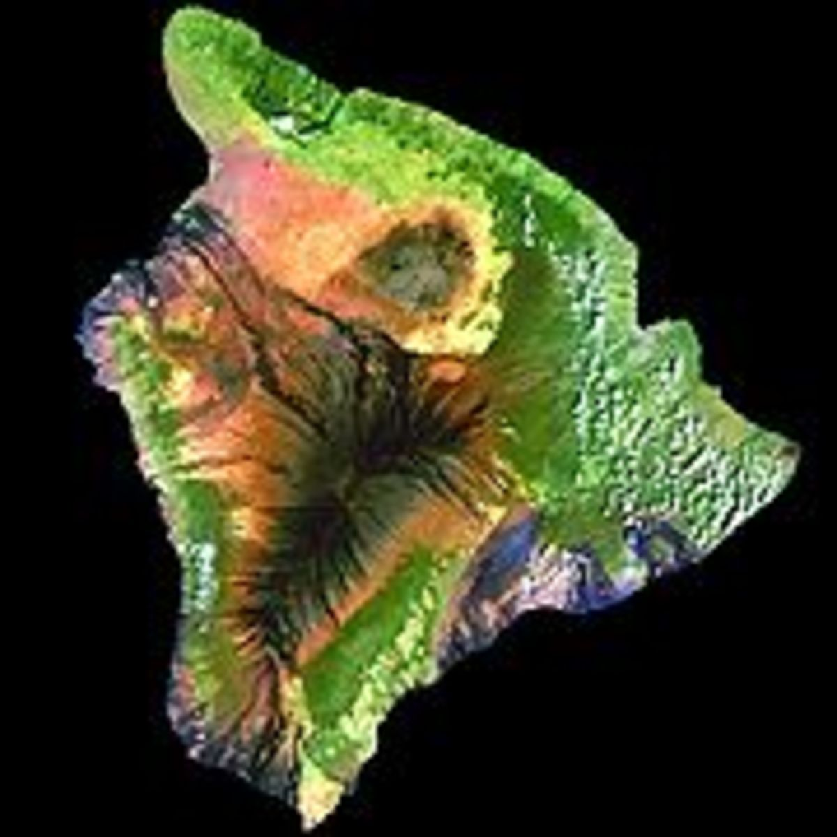 Big Island of Hawaii has a land area of 4,028.2 square miles