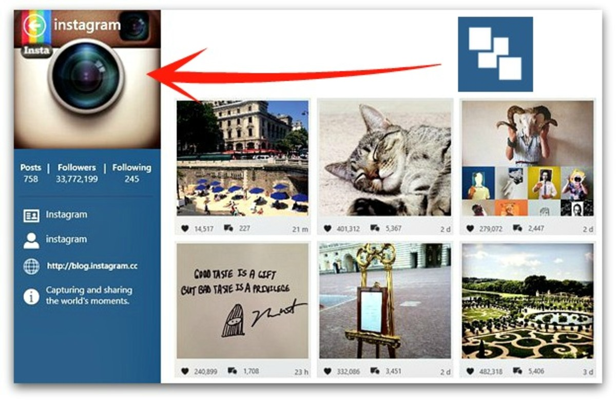 Changing Instagram profile picture on PC with Windows InPic(InstaPic) client for windows 8 and above versions
