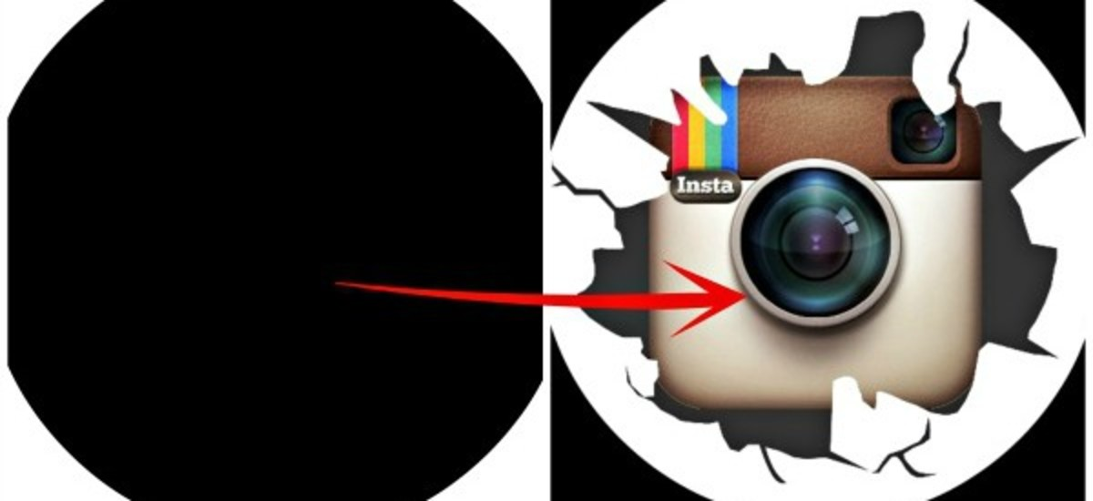 Bypassing Instagram profile picture crop by fitting it in circular frame.