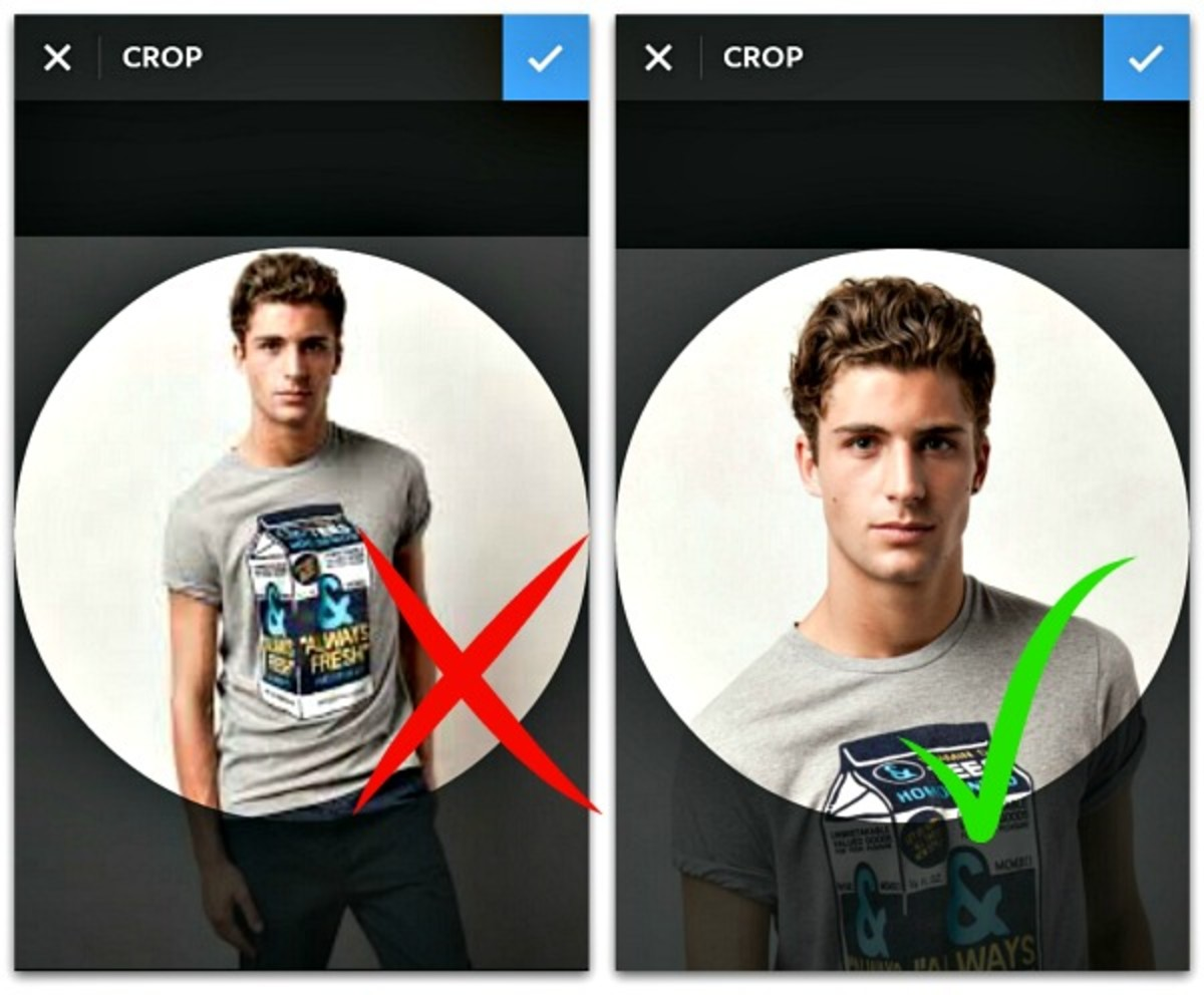Make your Instagram profile pic standout with smart zoom and contrast with a light background