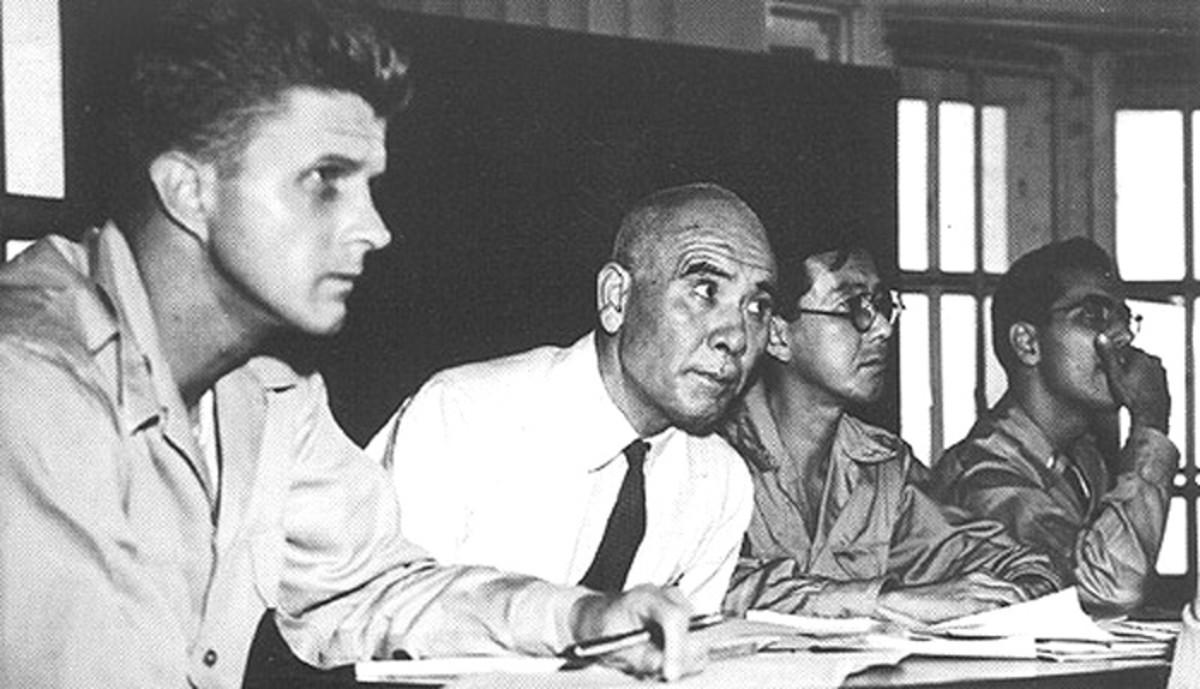 general Homma at his war crimes trial