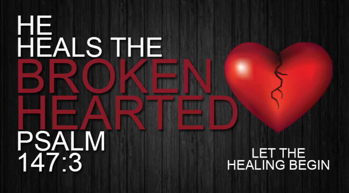 God can heal the brokenhearted & binds up their wounds!