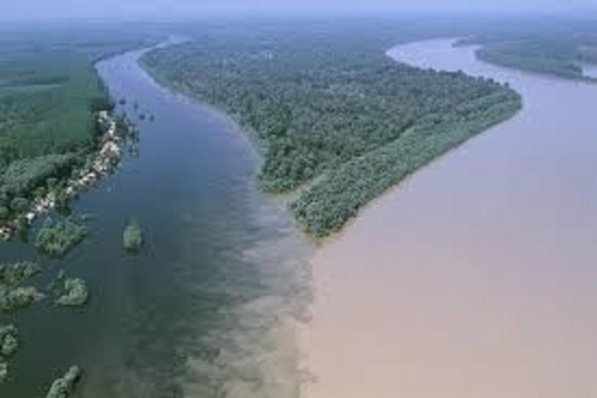Aerial View: Joining of River Benue and River Niger