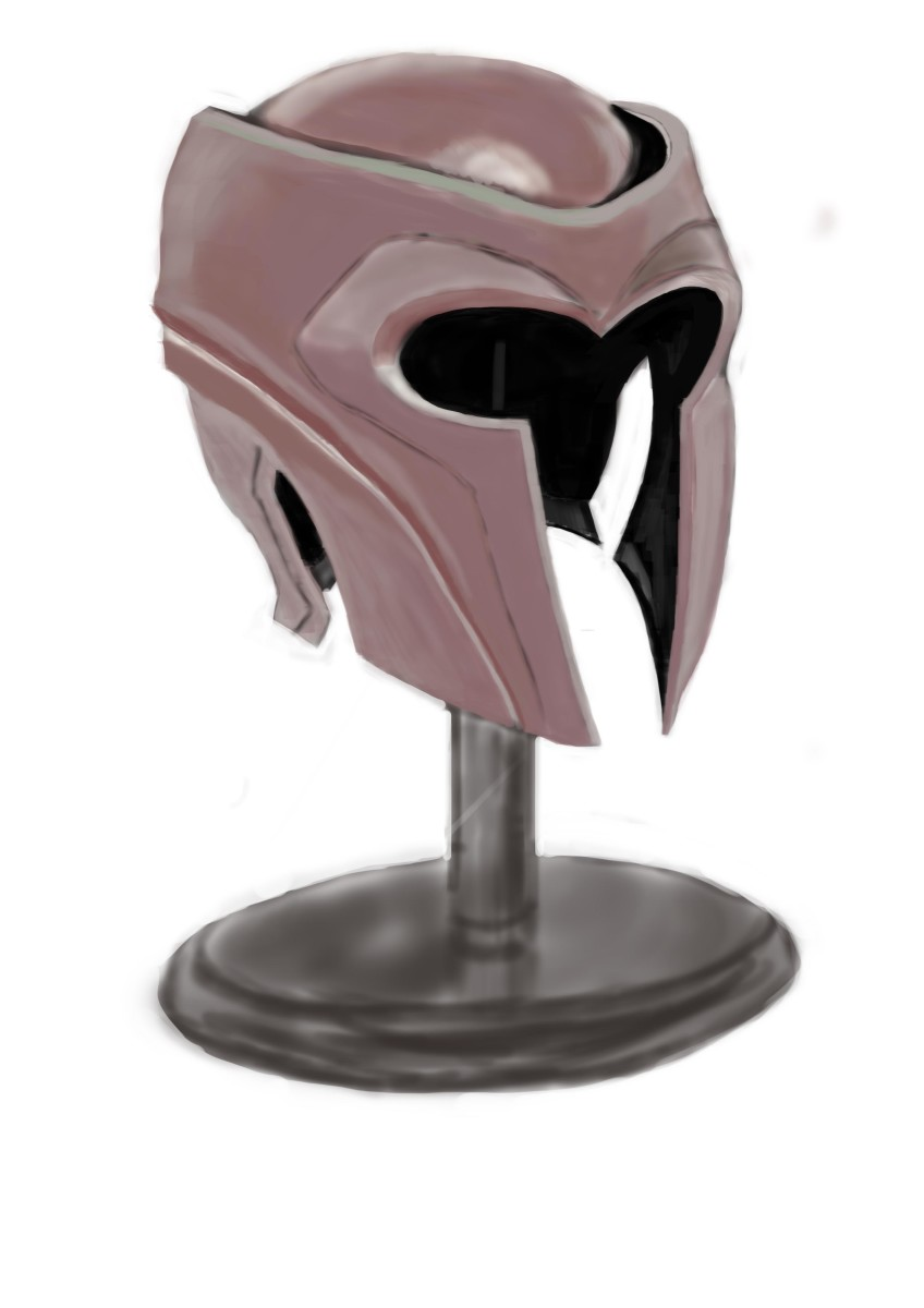 Magneto Helmet for my Armour studies