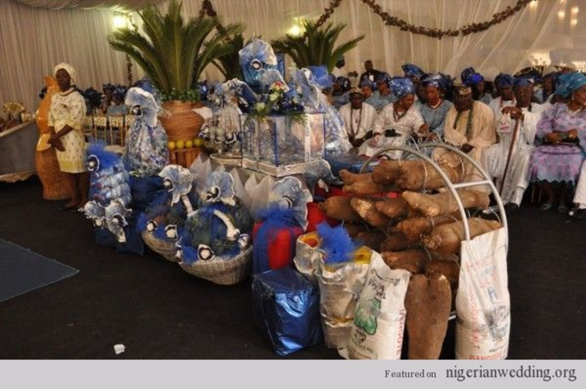 items for the Yourba engagement and wedding