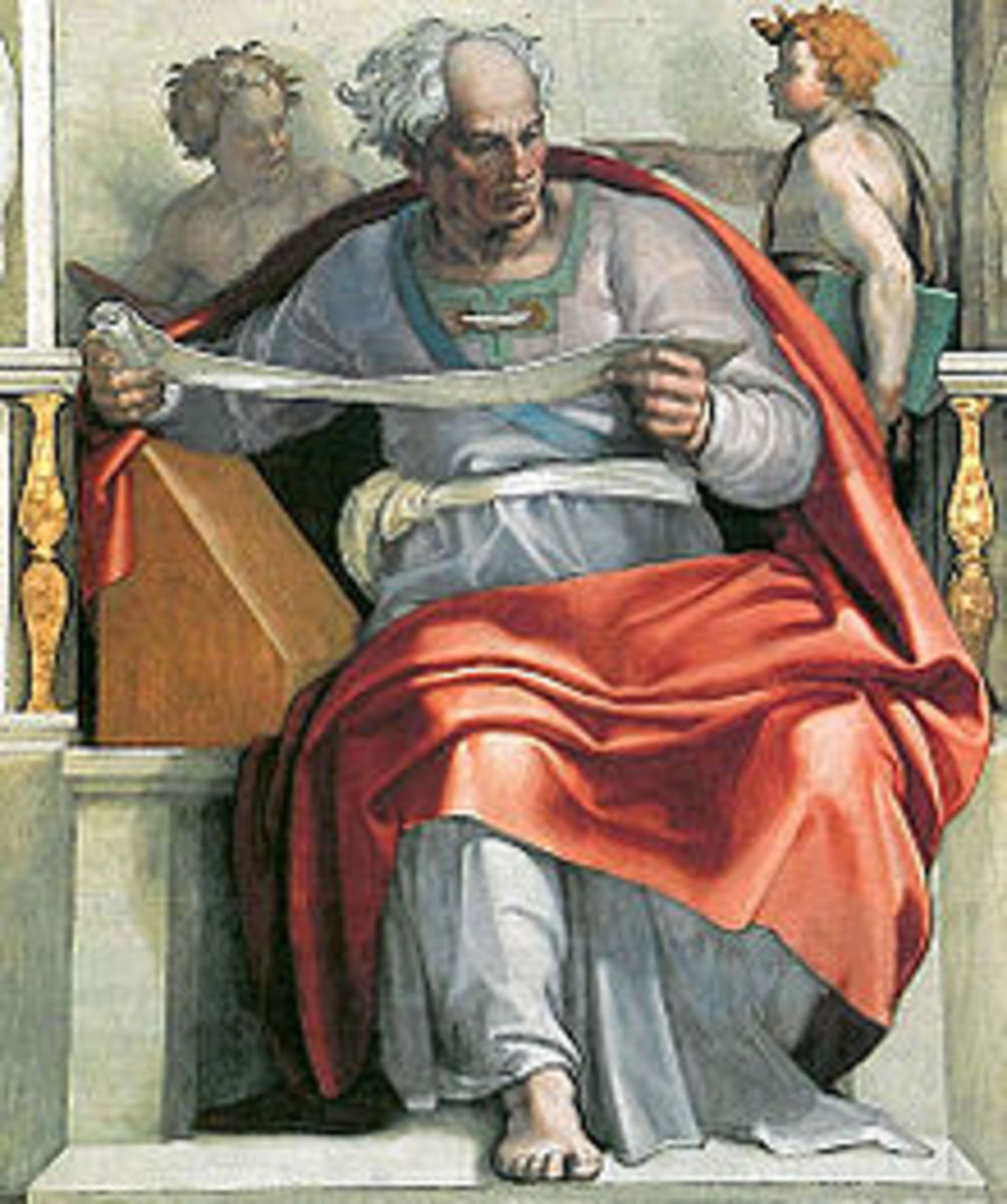Joel as portrayed by Michelangelo on the ceiling of the Sistine Chapel.