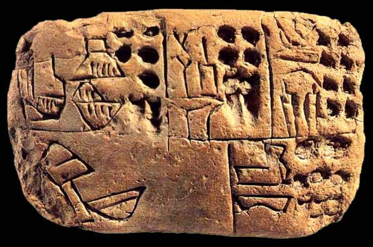 This is an example of cuneiform writing.