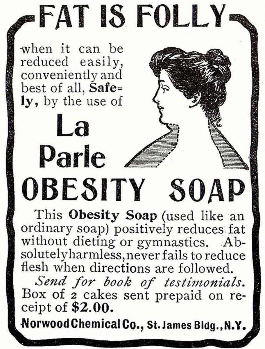Nope! Soap won't make you slimmer!