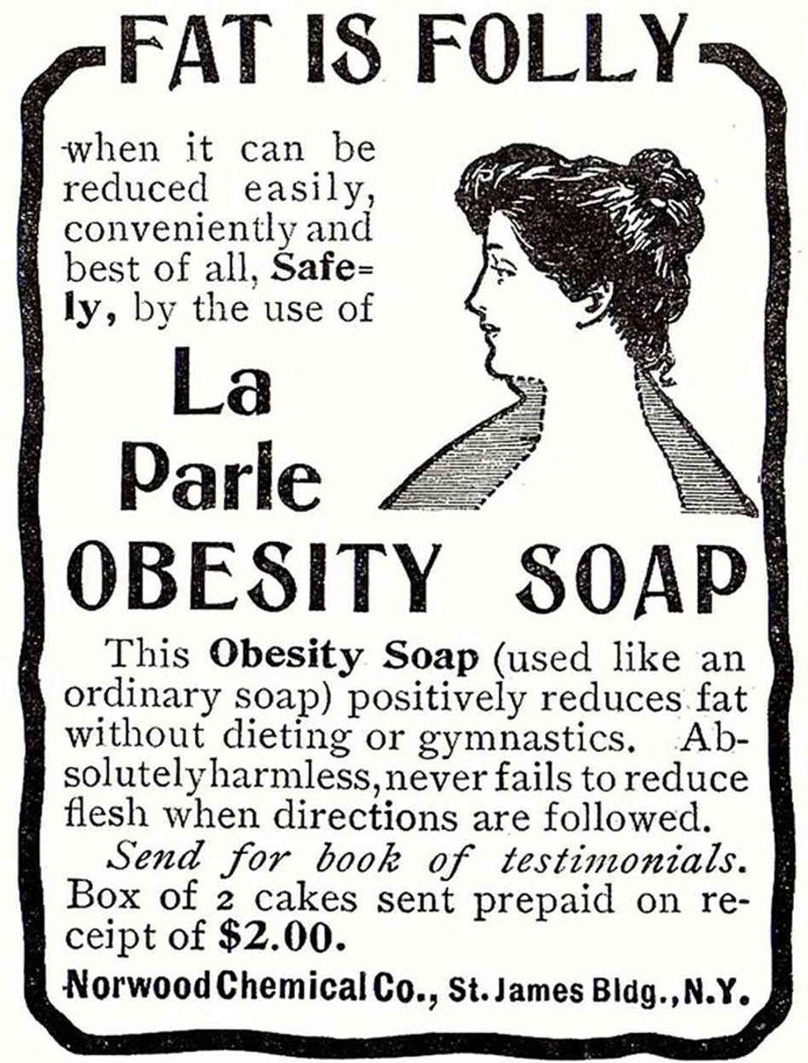 Nope! Soap won't make you slimmer!