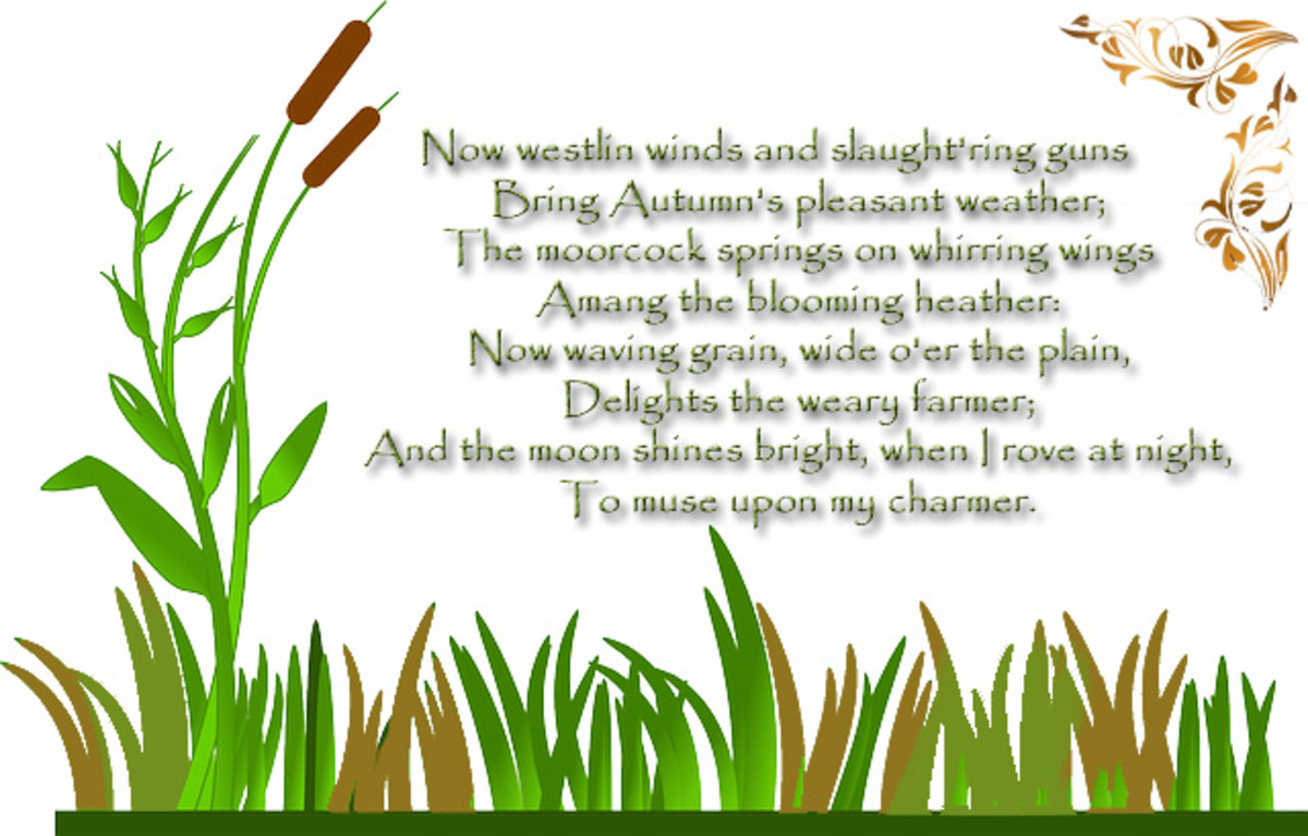 "Poem excerpt: ""Song Composed in August"" by Robert Burns (1783)"