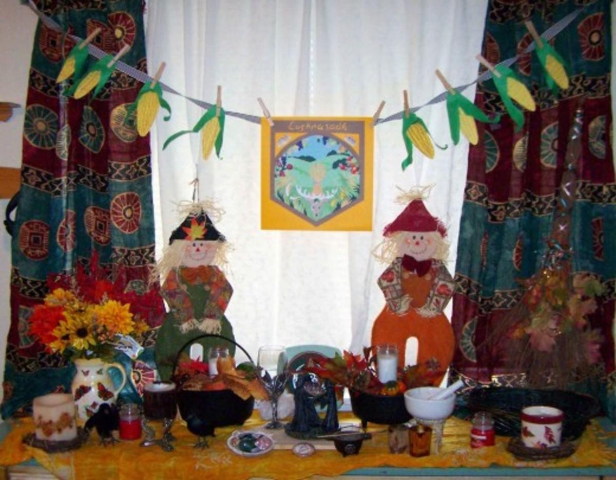 Lughnasadh altar for our family celebration last year.