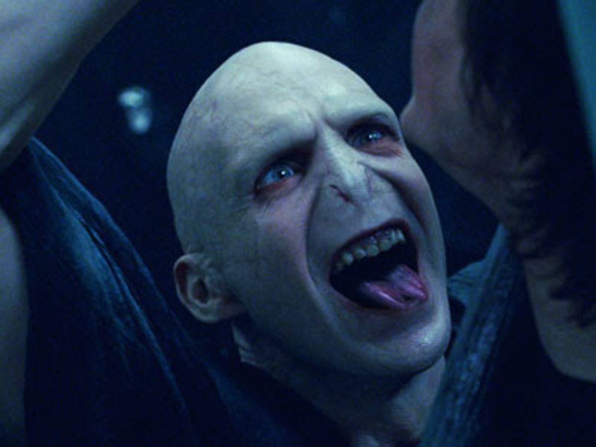 Fiennes' delirious performance as Voldemort is an unforgettable entrance...