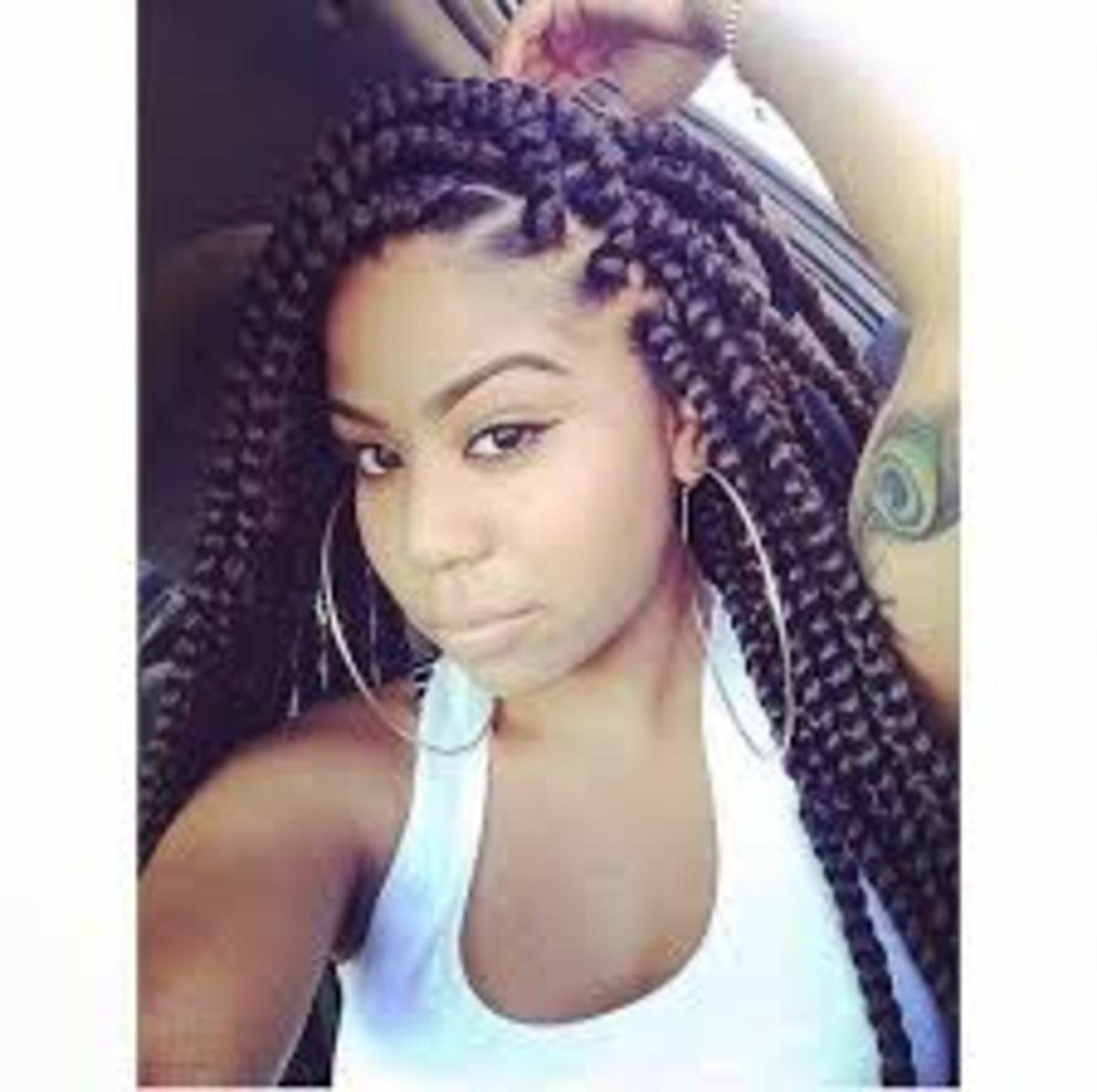 box braids, micro braids, Havana twists (my preferred method -super cute- just don't keep them in too long, they can start to reek)