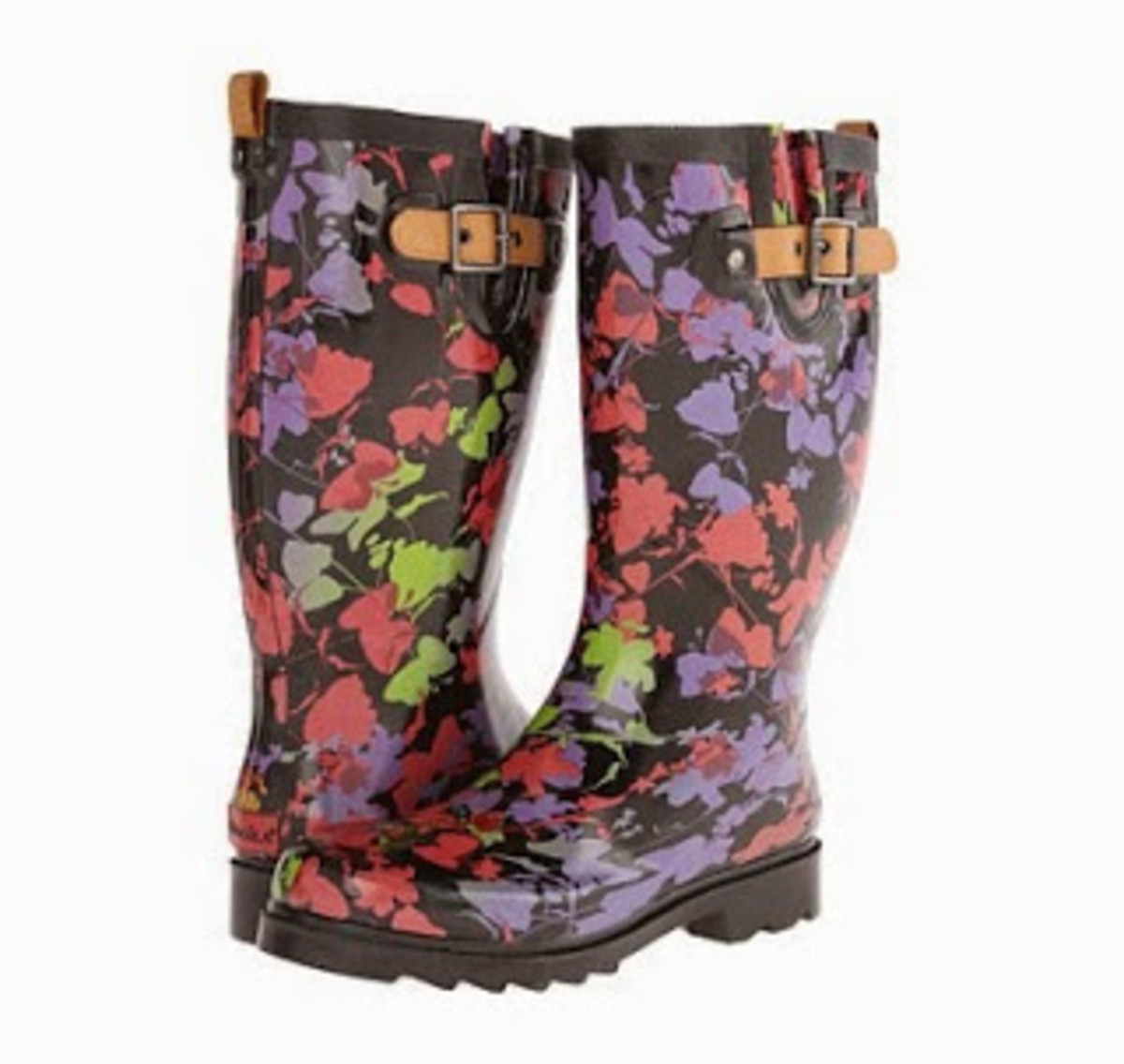 Chooka Floral Shadows - These are perfect for women needing a wider calf size boot