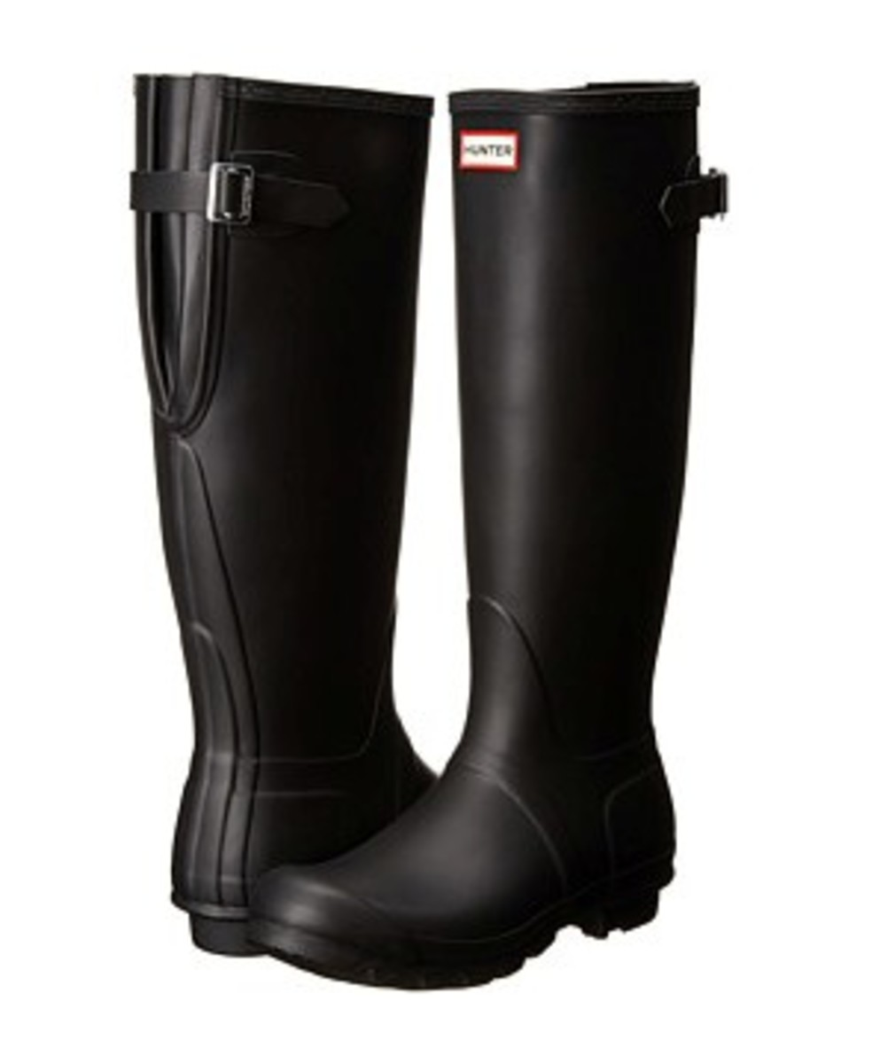 More of a traditional wide calf style - Hunter Original Back Adjustable