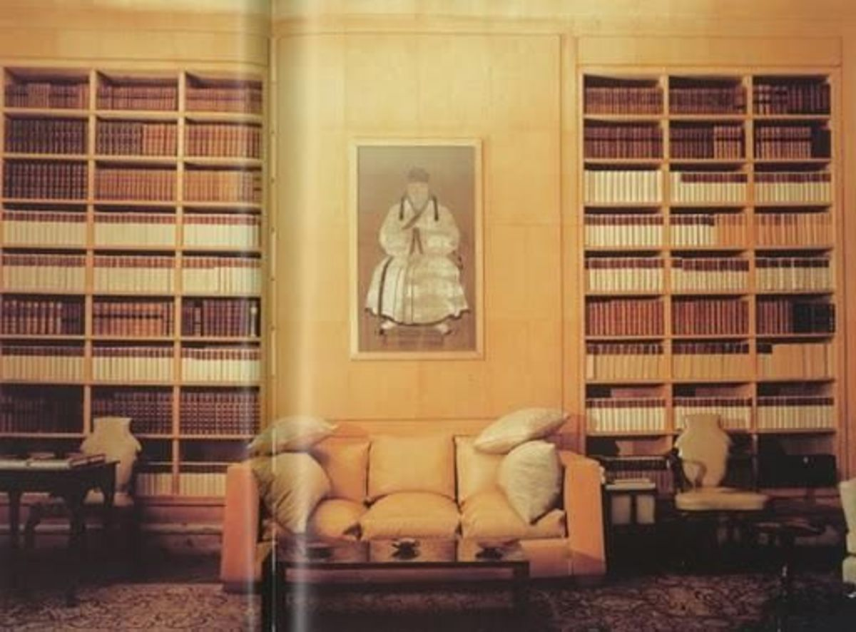 Library room by Frances Adler Elkins