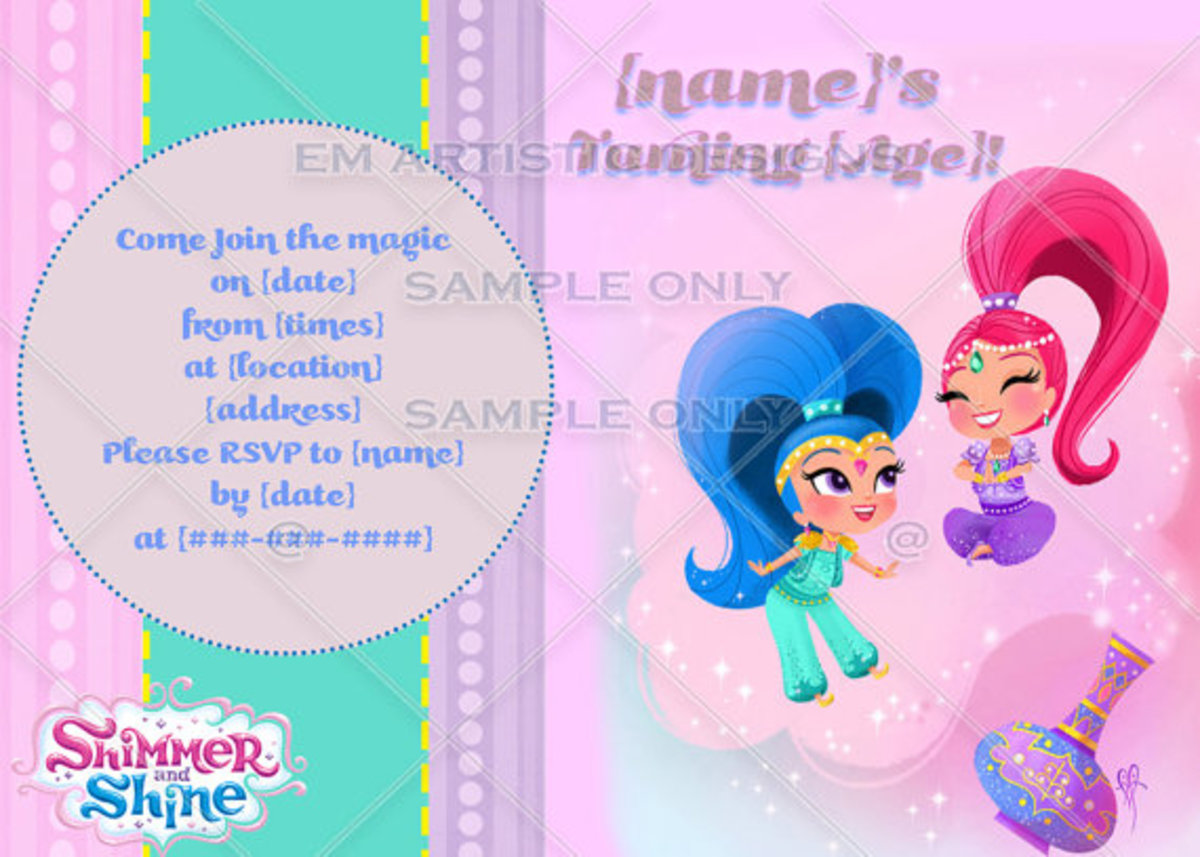 Shimmer And Shine Birthday Party Ideas And Themed Supplies Hubpages